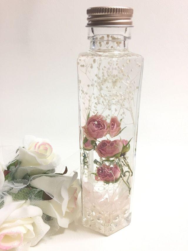 ■Pink Roseのキラキラハーバリウム&壁掛けアロマストーン■ | ハンドメイドマーケット minne