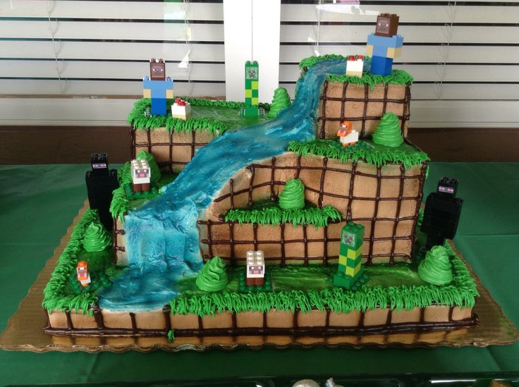 Cake Ideas Minecraft : Minecraft Cake (customized at Publix, then added my own ...