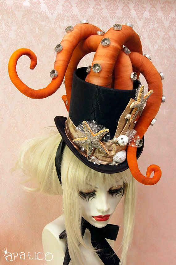 octopus tentacle hat steampunk victorian masquerade top
