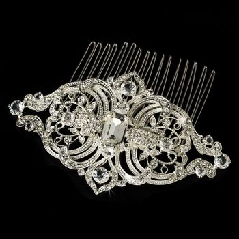 Antique Silver Vintage Rhinestone Comb.  Make it yours: http://styleyourday.com.au/products/Antique_Silver_Vintage_Rhinestone_Comb-787-111.html #weddinghair #bridalhairaccessories