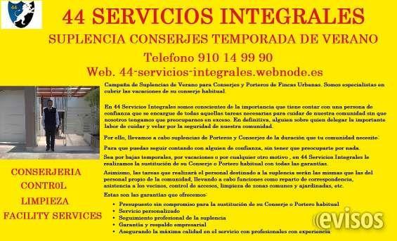Limpieza Madrid 44 Division Limpieza  Campaña de Suplencias de Verano para Conserjes y Porteros  ..  http://valdeolmos-alalpardo.evisos.es/limpieza-madrid-44-division-limpieza-id-688610
