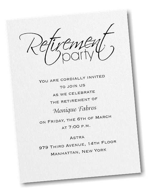 Retirement Celebration Party Invitation