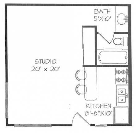 44+ Trendy Apartment Floor Plan Studio Square Feet