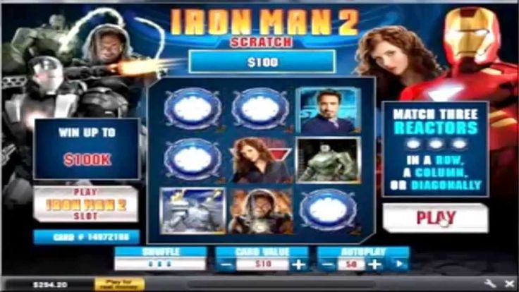 Iron Man 2 Online Scratch Card Video - Excellent Slots