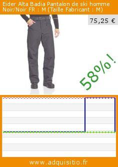 Eider Alta Badia Pantalon de ski homme Noir/Noir FR : M (Taille Fabricant : M) (Sports Apparel). Réduction de 58%! Prix actuel 75,25 €, l'ancien prix était de 178,47 €. http://www.adquisitio.fr/eider/alta-badia-pantalon-ski-1