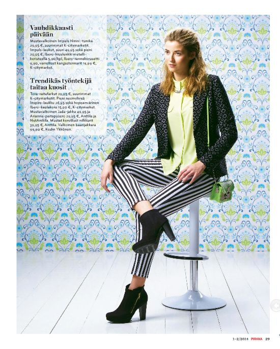 @Pirkka   Lime  simple Photo for Pirkka-magazine by Eero Kokko, AD: Anne Ala-Jokimäki. Set up: Tuomas Nortema Style, make-up, hair  fashion story by Ida Jokikunnas