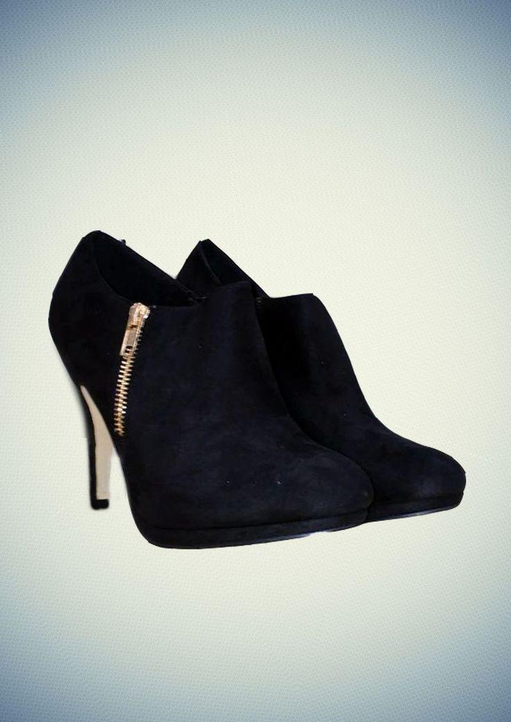 Μποτάκι Με Τακούνι Και Φερμουάρ Στο Πλάι #boots #FW14 #fashion