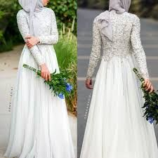 Image result for simple wedding dress for muslim bride                                                                                                                                                                                 More