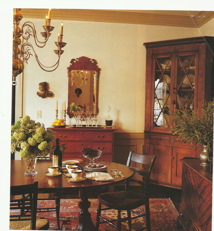 199 best images about colonial dining rooms on pinterest for Classic american home decor