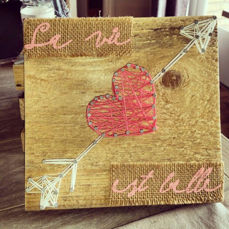 String art arrow heart  #lavieestbelle