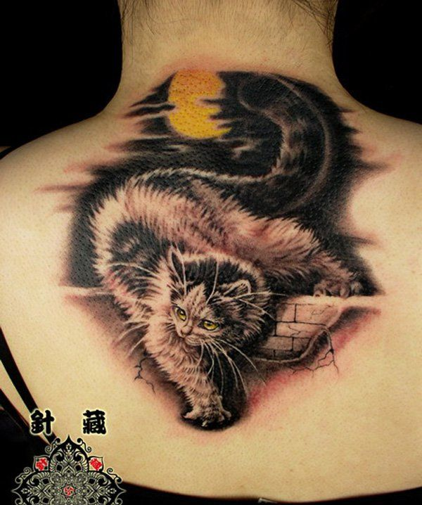 Best 25 cute cat tattoo ideas on pinterest kitty for Cat asshole tattoo