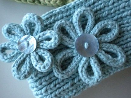 knitted flower patterns free | GIVEAWAY – Knitting for Dummies and Headwrap Pattern | Vanilla Joy