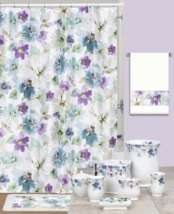 26 best bright spring bath decor images on pinterest for Bright bathroom sets