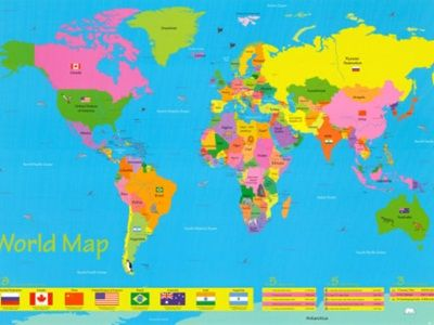 10 Best World Maps For Your Children S Room Worldly Wee