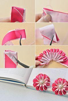 ribbon hair clip, LC.Pandahall.com will publish the tutorial soon. #pandahall