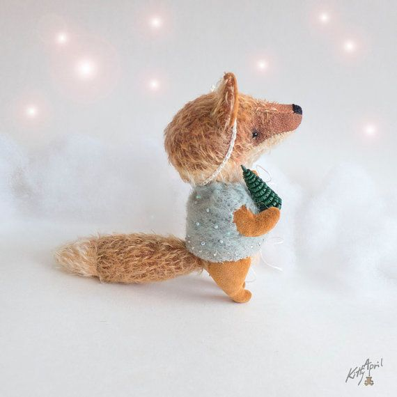 Teddy Fox Collectible Creation 4.7 inches by KittyAprilHandmade