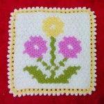 Çiçek Desenli Lif #washcloth #örgü #lif #knit #knitting #crochet