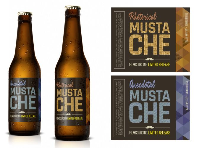 Hipster Beer Label - FREE Art Department Resources for film  As everything else in a true hipster's life, this craft beer is only to be consumed ironically. Maybe in a bar called Home – or Office.  #filmmaking #resources #design