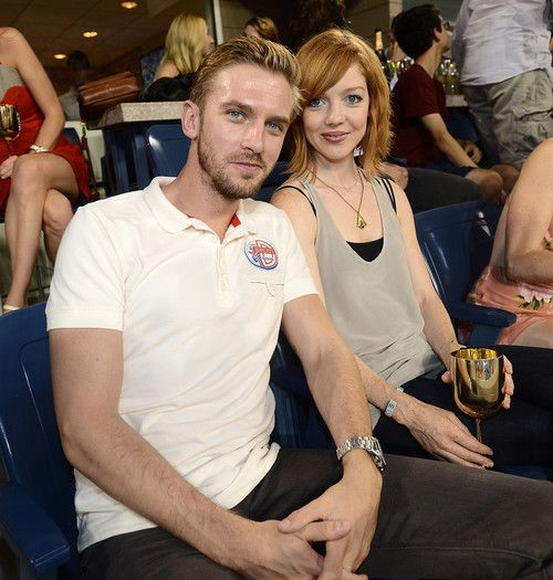 Dan Stevens and wife at the US Open |  August 31, 2013