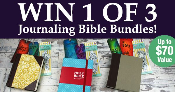 #Win 1 of 3 Journaling Bible Bundles In This Fabulous Giveaway! http://giveaway.rebekahrjones.com/?lucky=2951 via @
