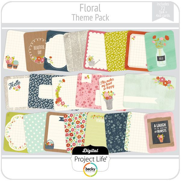 Floral Theme Pack   digitalprojectlife