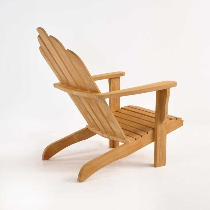 Teak Adirondack Chair Back Angle View Adirondack Chair Outdoor Chairs Teak Adirondack Chairs