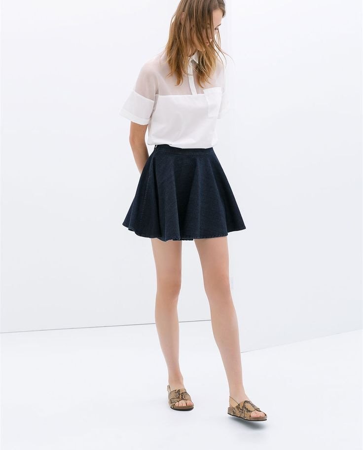 Image 2 of DENIM MINISKIRT from Zara