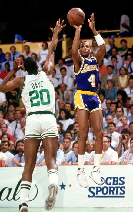 Byron Scott and Darren Daye, 1987 NBA Finals, Lakers vs Celtics, Boston Garden