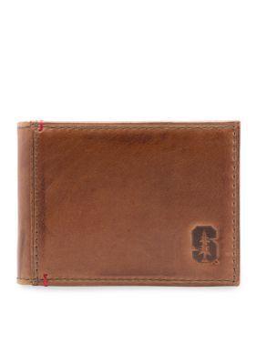 Jack Mason Brown Stanford Campus Front Pocket Wallet