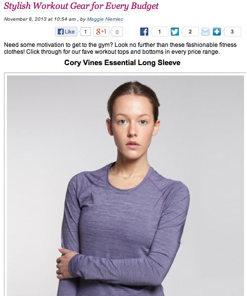 Ladies Home Journal  http://www.lhj.com/blogs/ladieslounge/2013/11/08/stylish-workout-gear-for-every-budget/