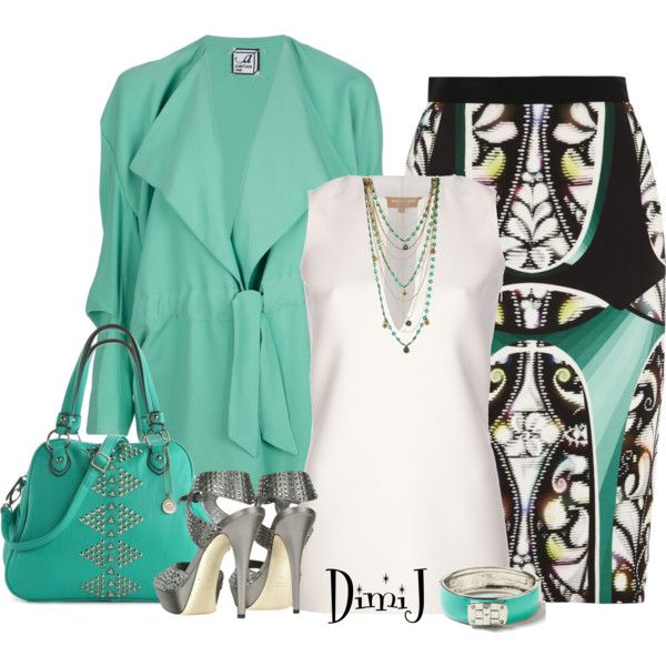 """""""Peter Pilotto Eleni Skirt"""" by dimij on Polyvore"""