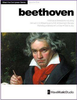 Beethoven | Digital Print Piano Book (Easy-Intermediate) 10 Pieces