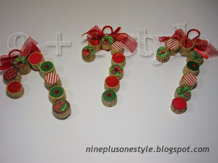 Bastoncini natalizi col sughero - Christmas candy sticks with cork