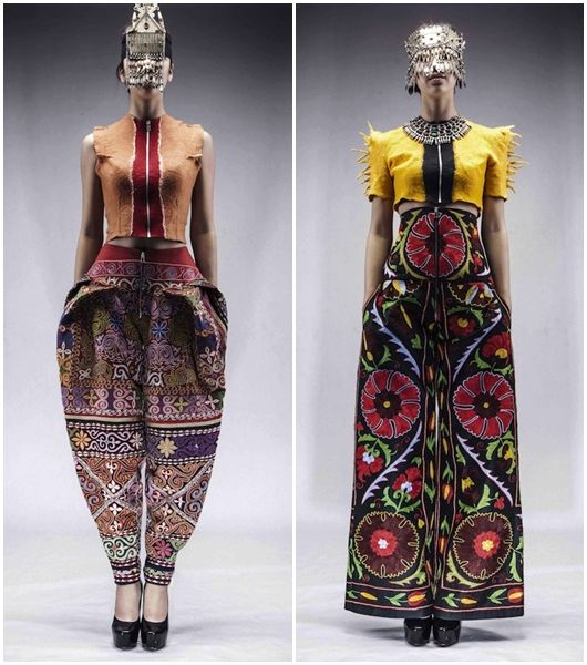 Fashion Designer - Aya Bapani, traditiona uzbek embroidered textiles - suzani.