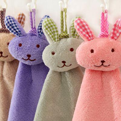 2017 Cute Cartoon Rabbit Microfiber Towel Dry Hands Cloth Dishcloth Wholesale Bowel Oil Cleaning Accessories Dish Kitchen