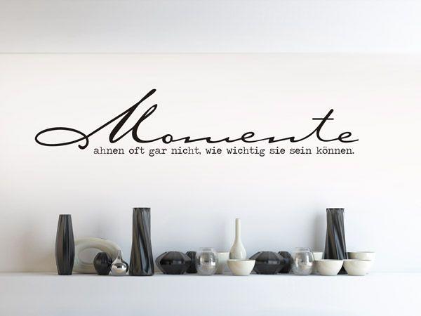 Great Wandtattoo Momente im minimalistischen Schaufenster
