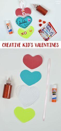 Creative paper kid's Valentine craft ideas