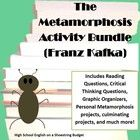 """A collection of activities for use with the story """"The Metamorphosis"""" by Franz Kafka. This bundle includes a variety of projects including the Clerk's Report dialogue activity (for point of view and dialogue practice), Personal Metamorphosis Task Cards, 5 Graphic Organizers, Reading and Critical Thinking Questions, plus three different culminating projects about the text, and more!  $"""