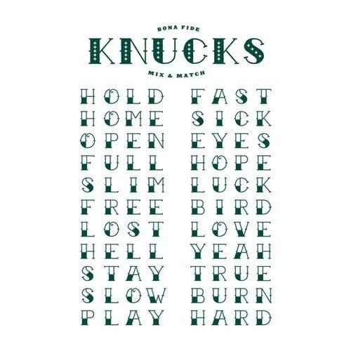 Letter Phrases For Knuckles