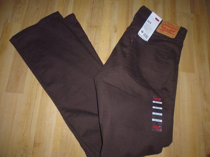 Levi s 514 - Men s Jeans , Extra Slim fit Straight Fit ,  W34 L30 , Brown