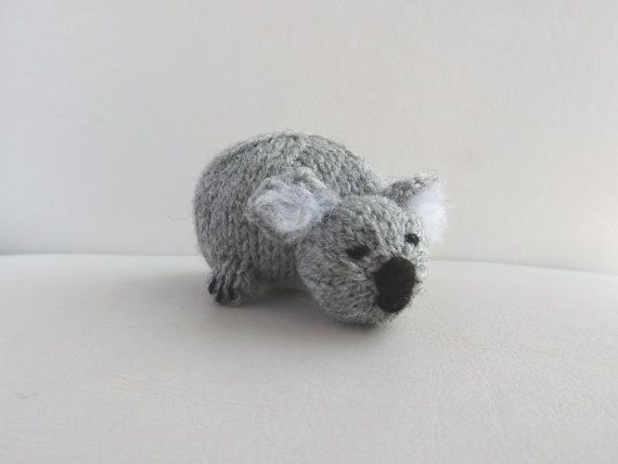 Hand knitted super cute Koala critter. Mind you, dont offer her anything to snack on thats not Eucalyptus, shes a very fussy eater.