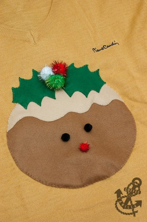 Cute DIY Christmas Pudding Jumper