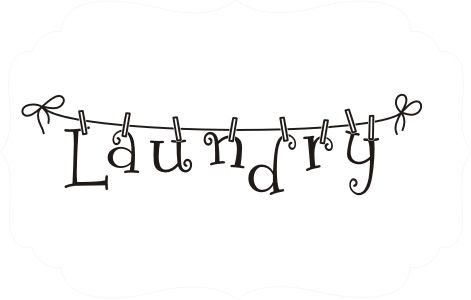 Laundry Room Clothesline Vinyl Decal- inspiration for a painted canvas
