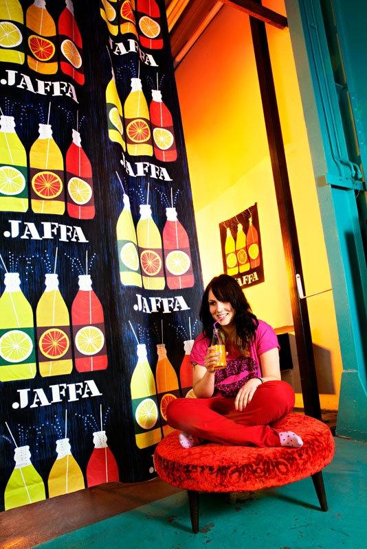 JAFFA curtains - Erik Bruun Design - Vallila Interior. Yes I love jaffa, the original  orange soft drink