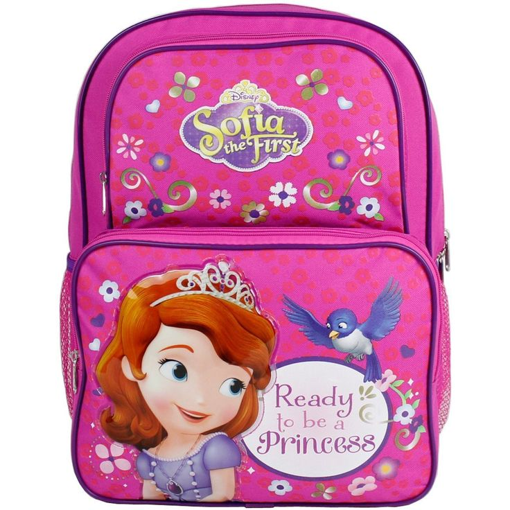 Disney sofia the first princess large cargo backpack