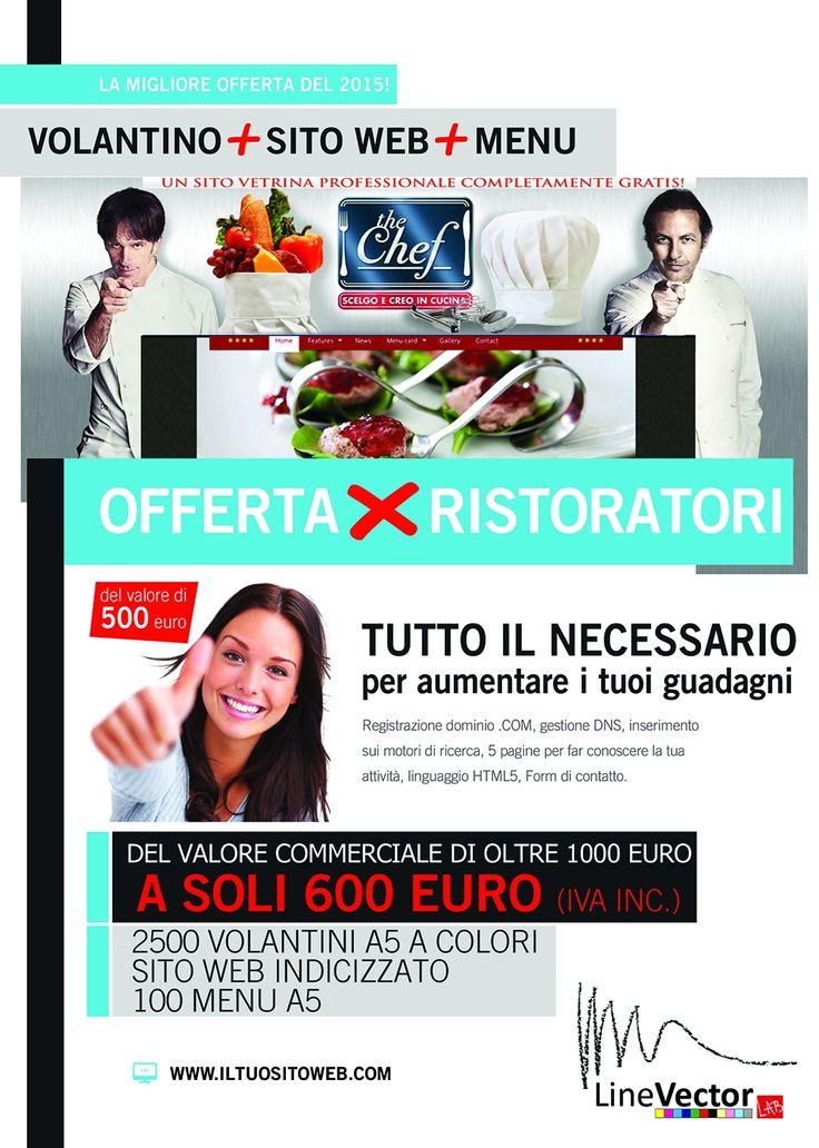 Offerta su Localiving di LineVector a Cosenza e provincia. #volantini #sitoweb #web #menù #offerta #ristoratori