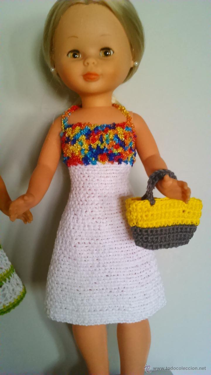 Reproducciones Muñecas Españolas: dos vestidos para nancy, artesanales y nuevos - Foto 2 - 48865663