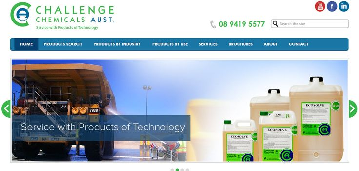 Challenge Chemicals is a privately owned totally Australian business, with distributors throughout Australia. More company details here: http://www.challengechemicals.com.au/about/ Developed by: http://www.sushidigital.com.au/services/content-management-systems/