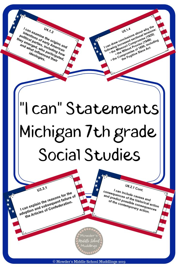 I Can Statements Are A Great Way To Get Your Students Involved In The Standards Social Studies Middle School I Can Statements Teaching Middle School History [ 1102 x 735 Pixel ]