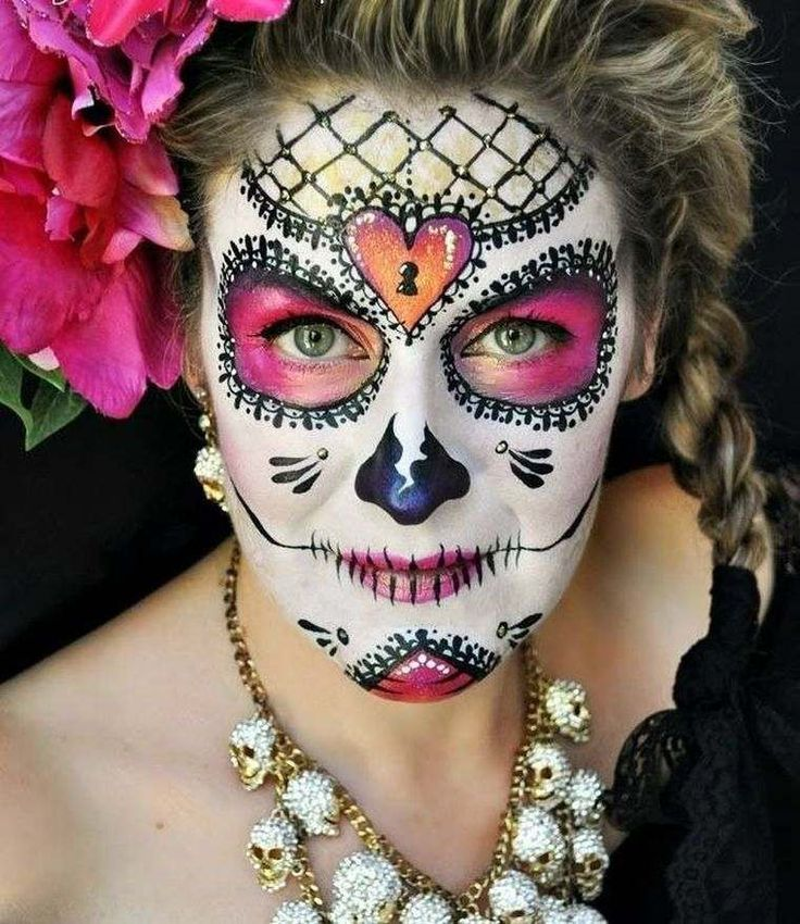maquillaje de halloween ideas para recrear craneo